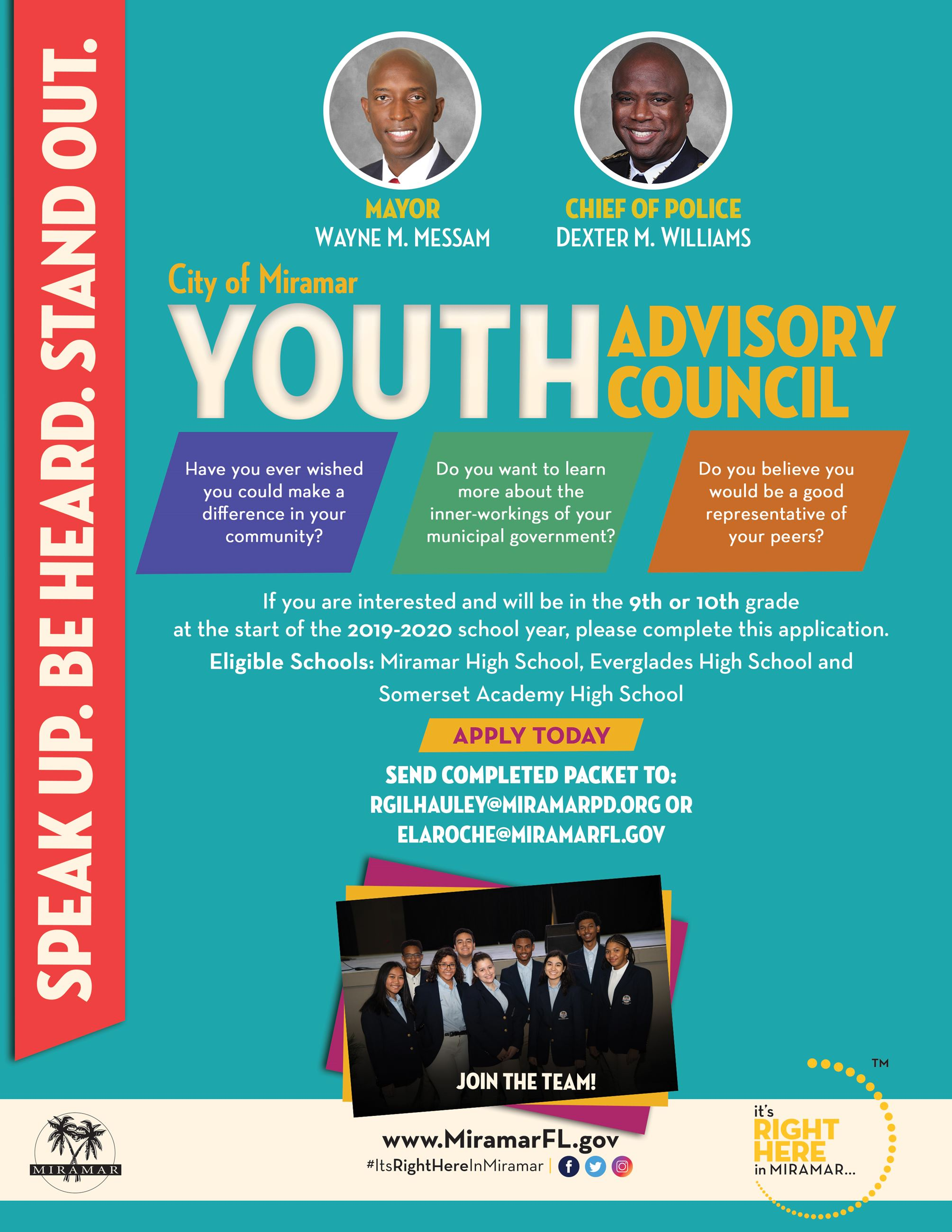 Youth Advisory Flyer Link to Online Application