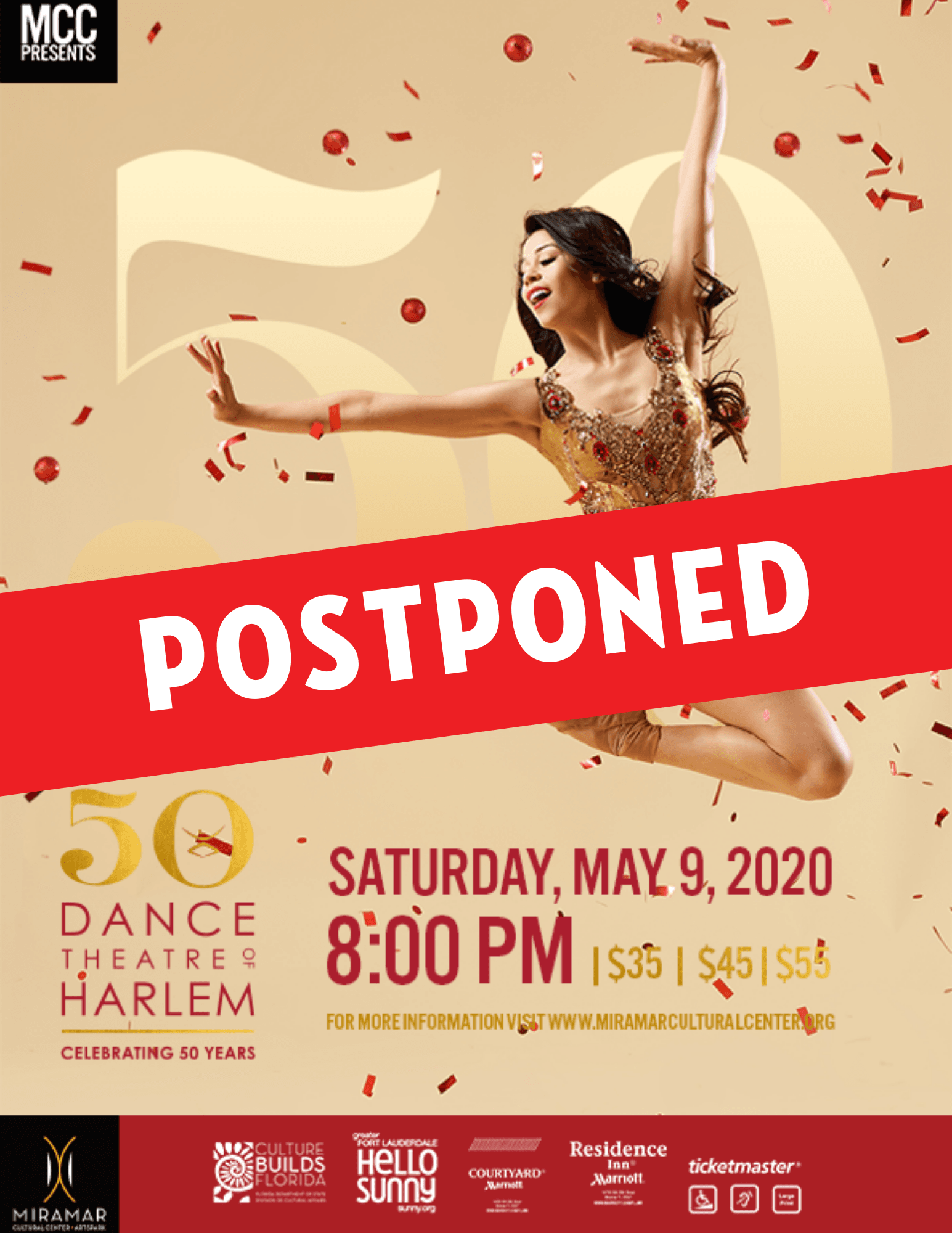 EVENT POSTPONED NOTICE