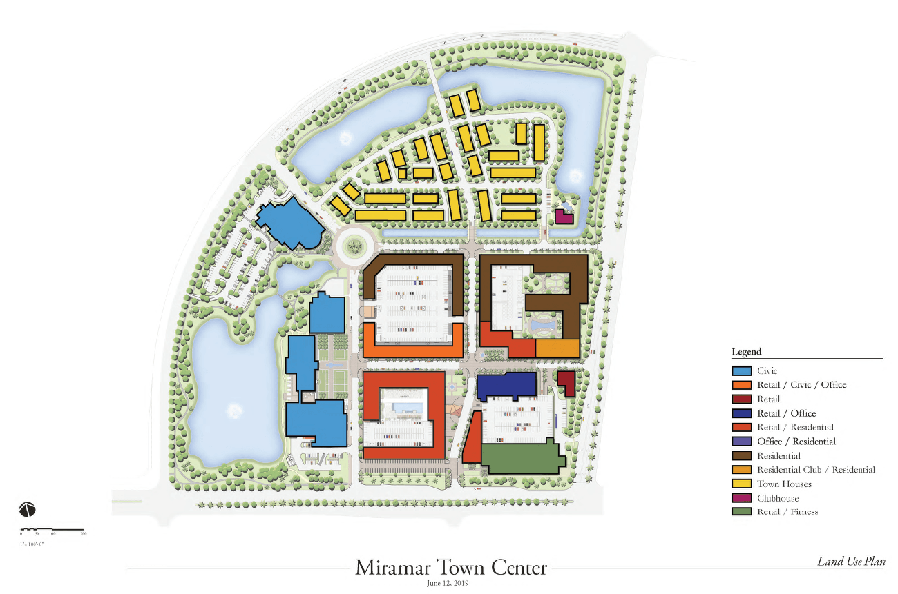 Miramar Town Center Land Use Plan as of 06122019