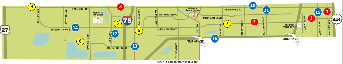 Miramar Roadway Project Map
