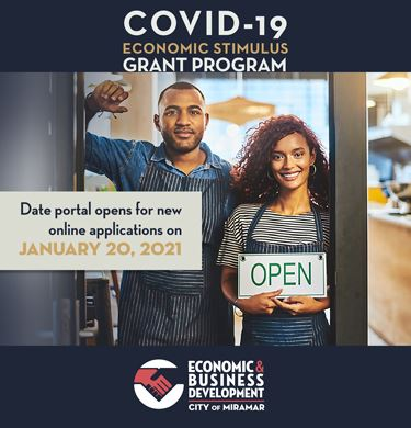 Covid-19 Economic Stimulus Grant Program - Home Page News Banner