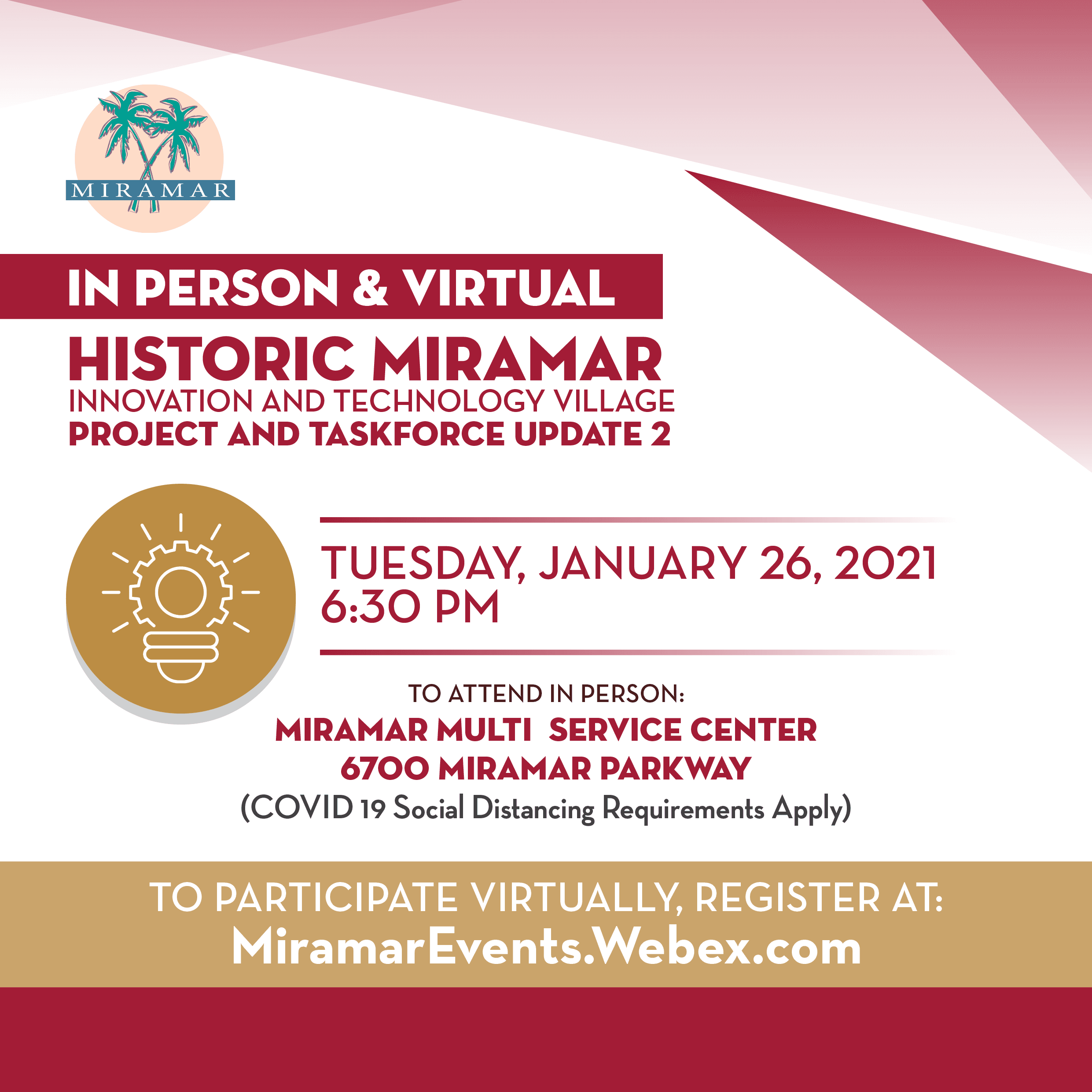 Historic Miramar Innovation and Technology Village Meeting January 26 - News