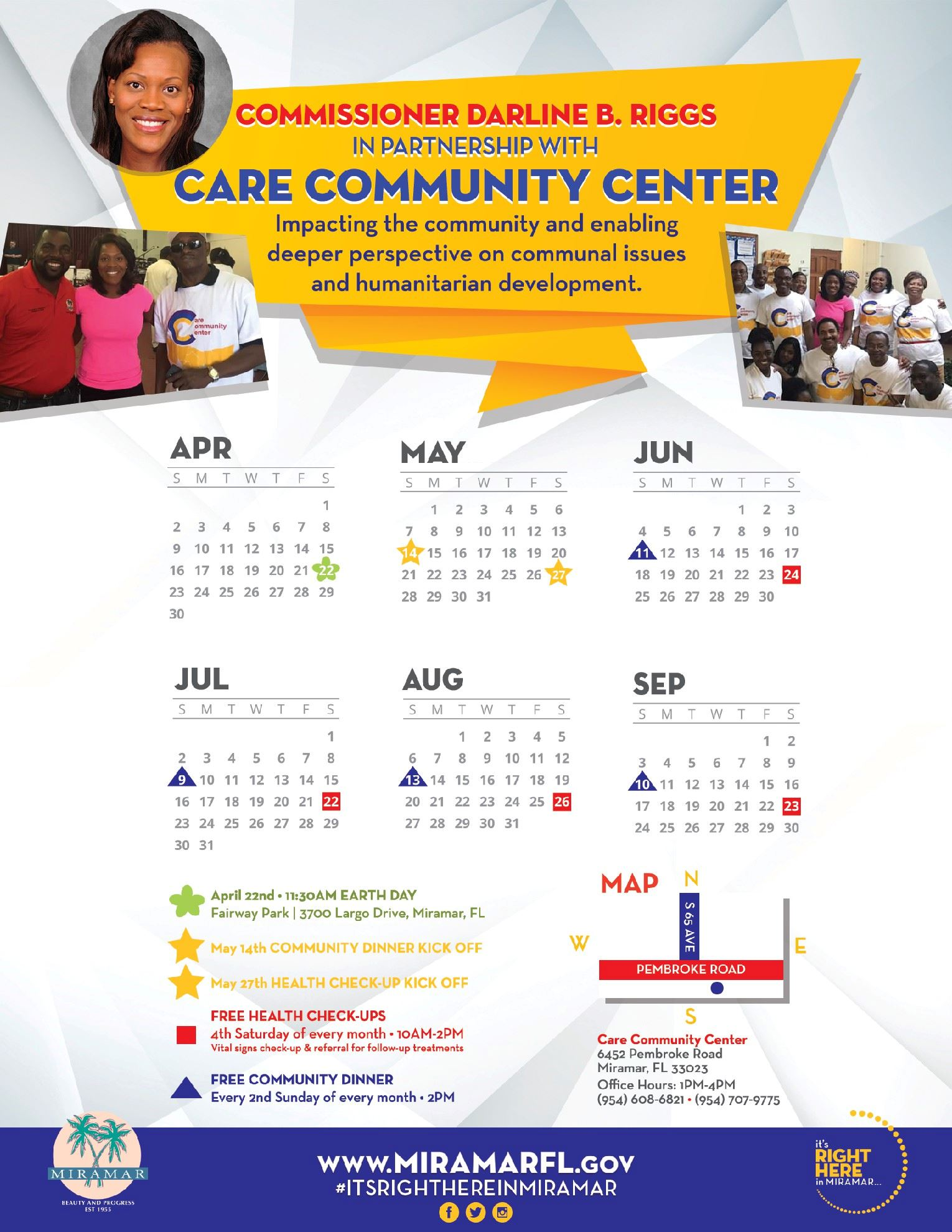 Care Community Center in Partnership with Commissioner Darline B. Riggs