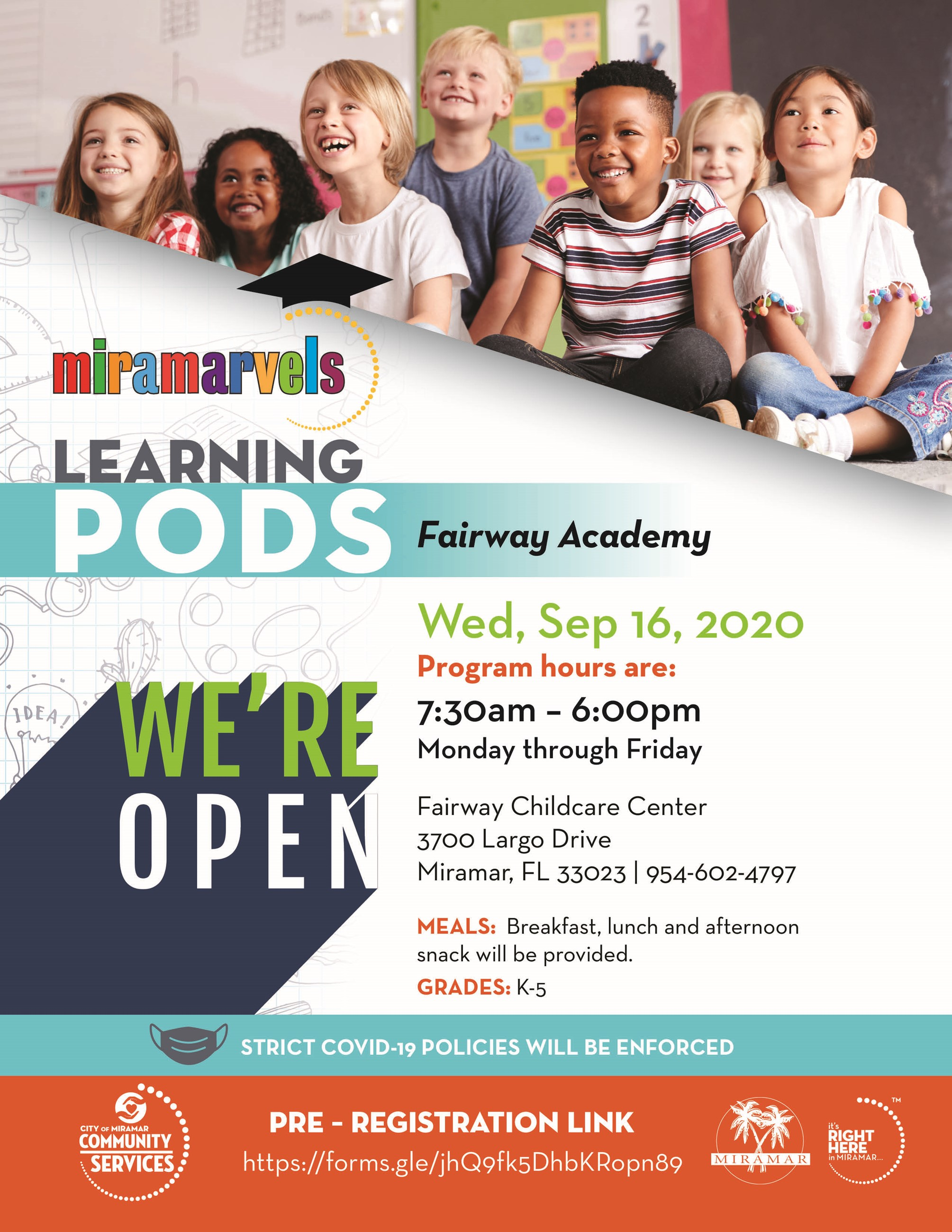 Miramarvals Learning Pods Postponed Sunset LakesFlyer