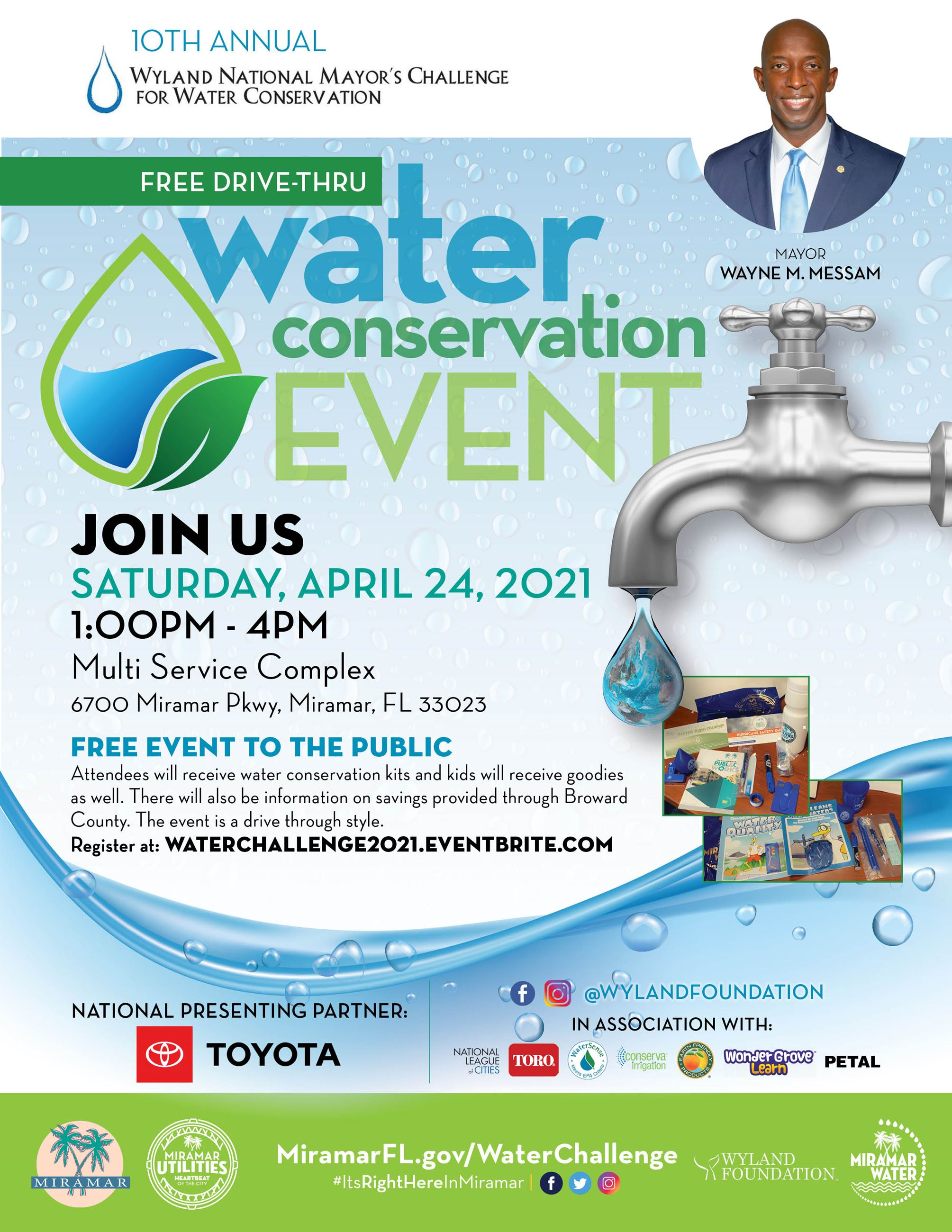 Mayor Messam Annual Water Challenge Drive-Thru Event April 24 2021
