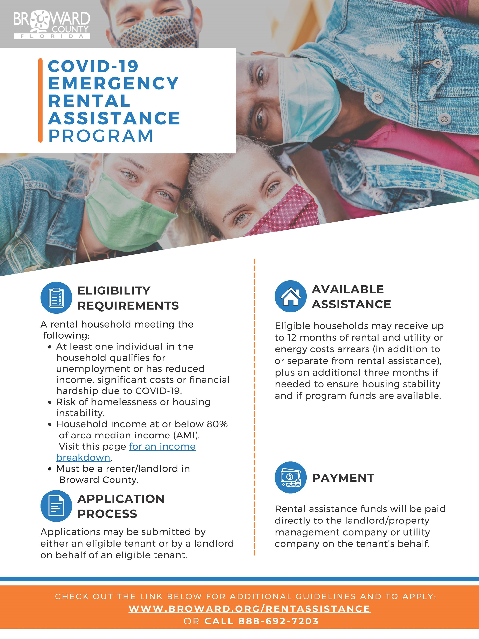 Broward County COVID19 Emergency Rental Assistance Flyer - coming soon